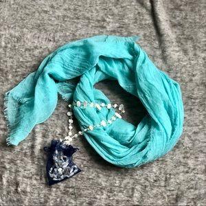Blue-Green/Teal Sheer scarf/wrap